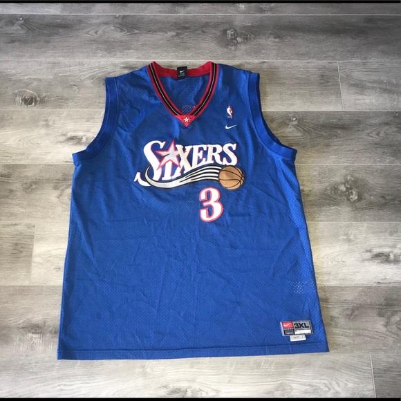 premium selection 49a4b bbc4e Nike NBA Philadelphia 76ers Allen Iverson Jersey